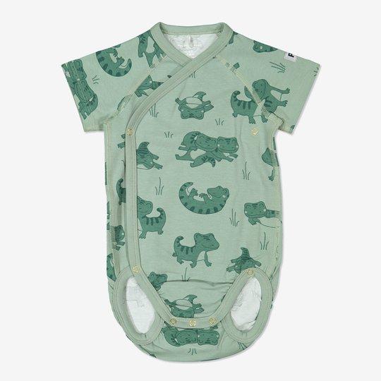 Omslagsbody med trykk baby grønn