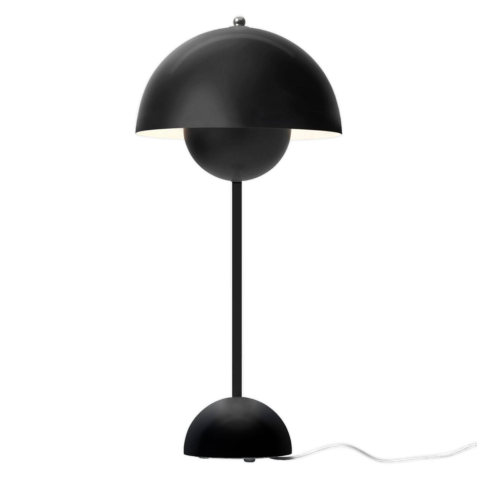 &Tradition Flowerpot VP3 pöytälamppu musta matta