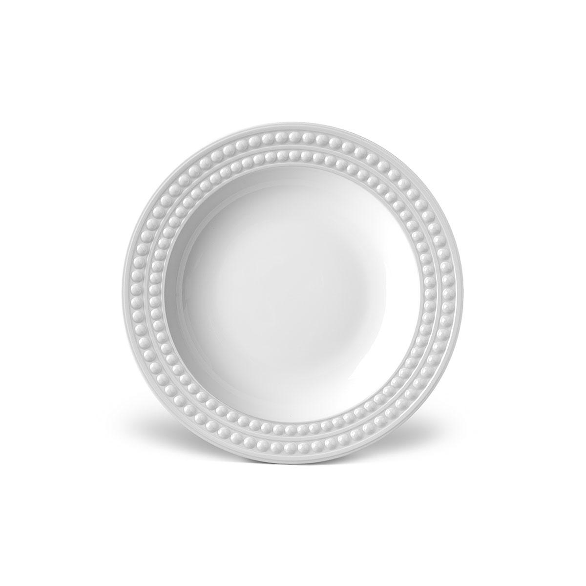 L'Objet I Perlée Soup Plate White