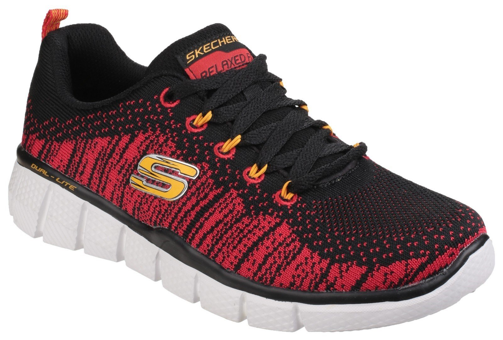 Skechers Kid's Equalizer 2.0 Trainer Various Colours 24594 - Black Red 10.5