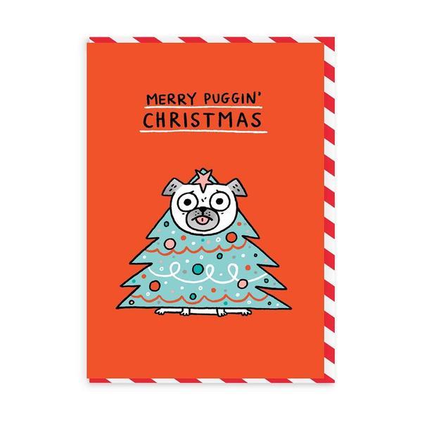 Merry Puggin' Christmas Card