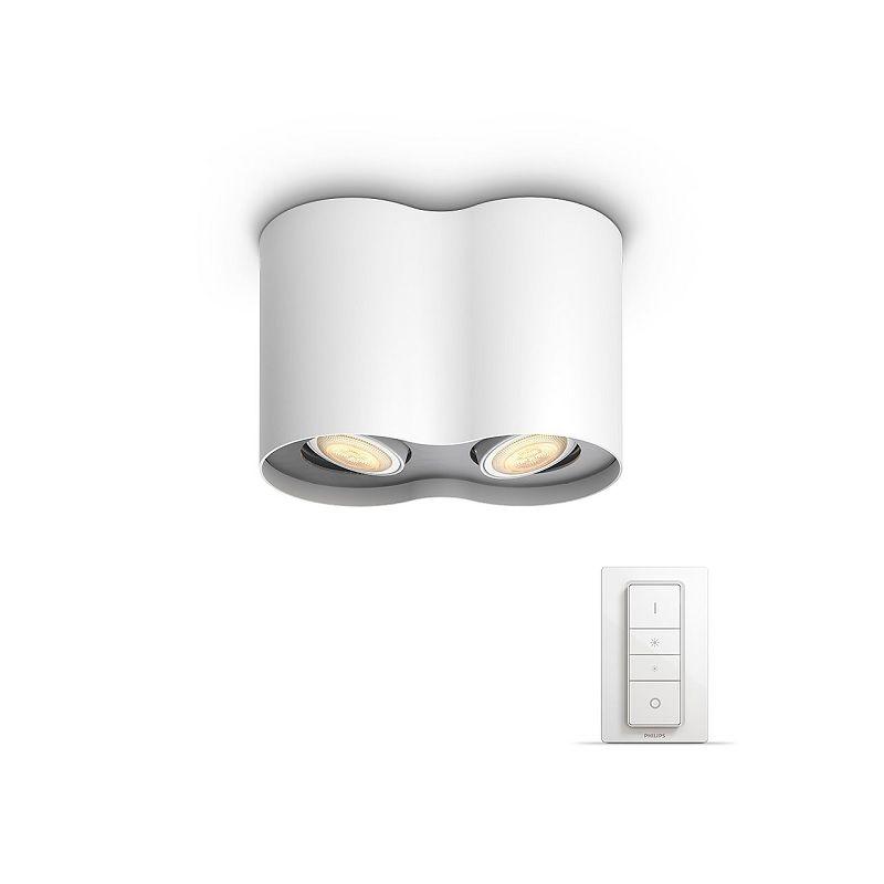 Pillar Hue - Pillar 2x5.5W - Bluetooth Dimmer Switch Included - White