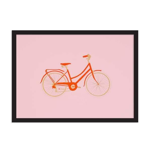 A4 Town Bike Riso Print