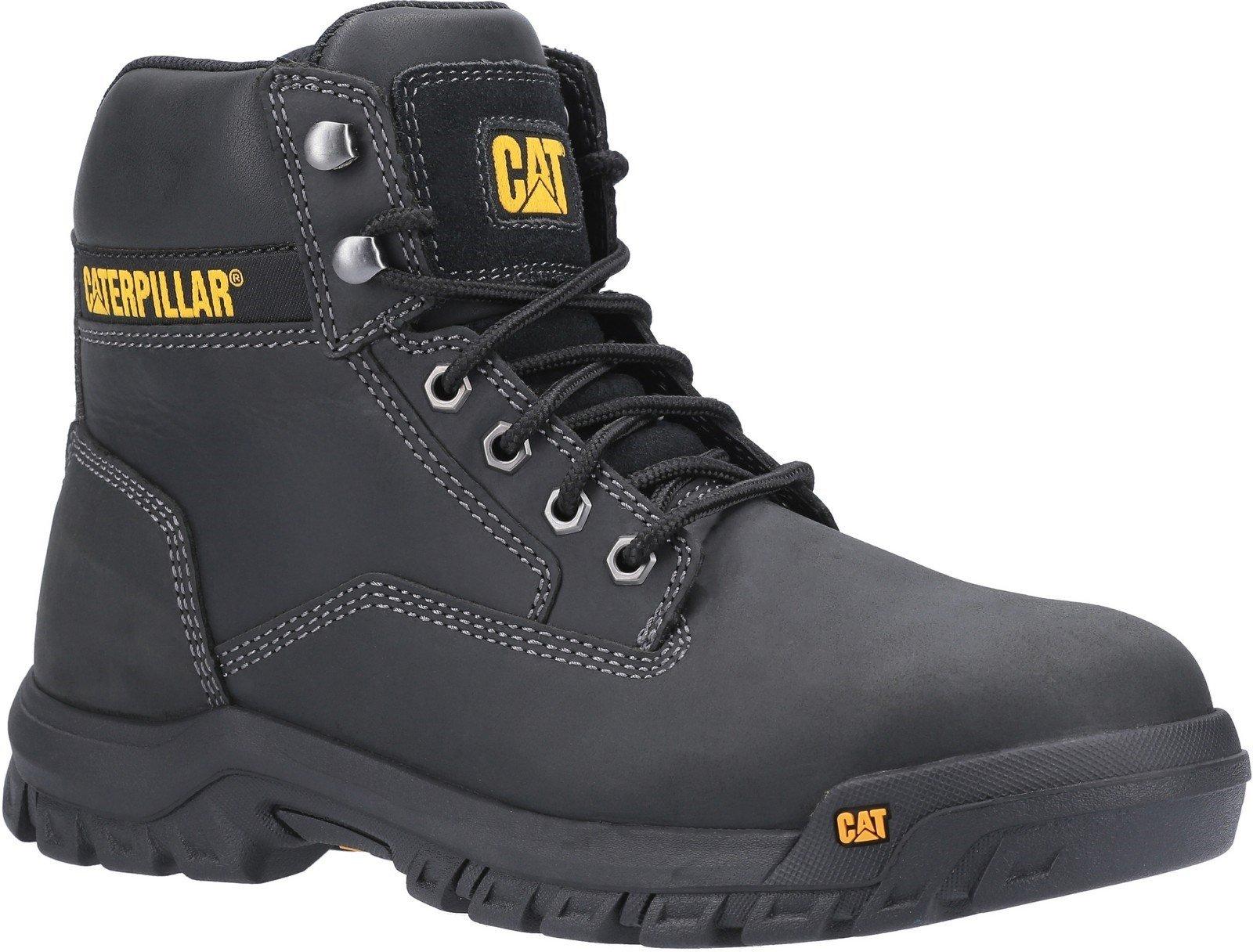 Caterpillar Men's Median S3 Lace Up Safety Boot Black 30431 - Black 6