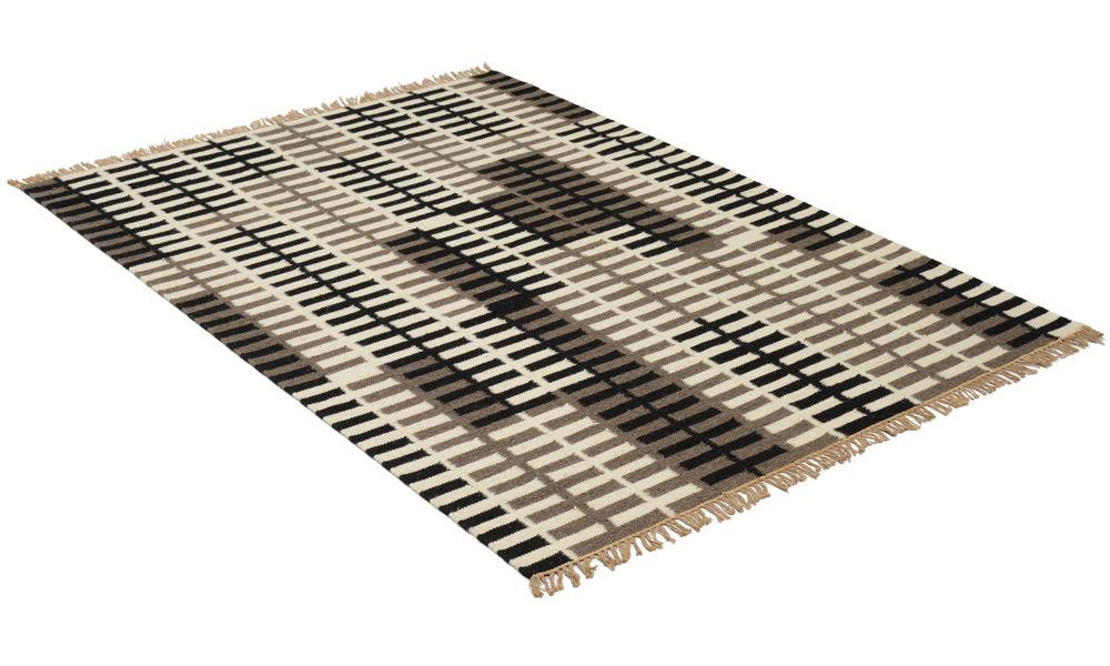 Fence svart/grå - håndvevd ullteppe