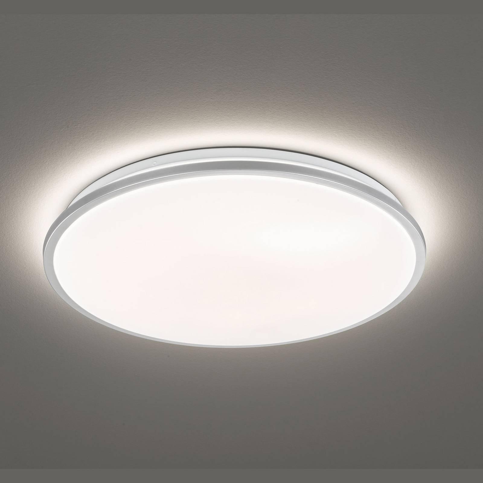 LED-taklampe Jaso, dimbar, Ø 40 cm, sølv
