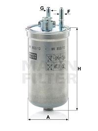 Polttoainesuodatin MANN-FILTER WK 853/13