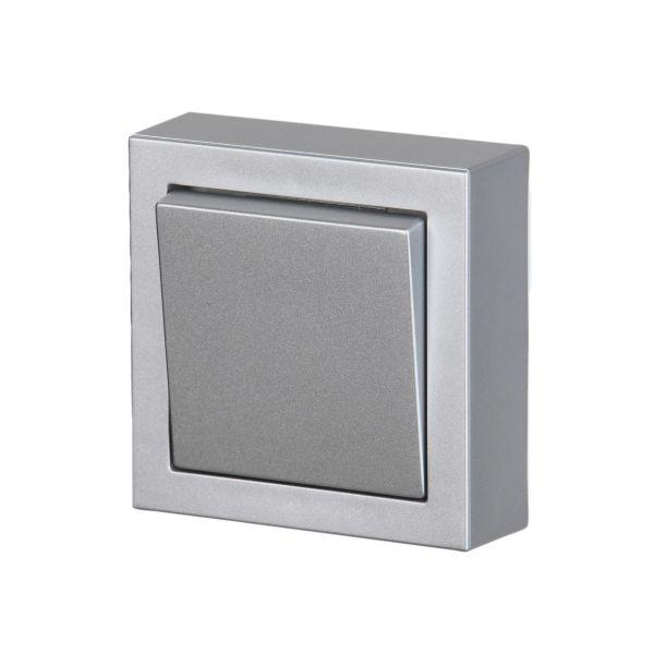 ABB Impressivo Kytkin risti, pinta-asennettava Alumiini