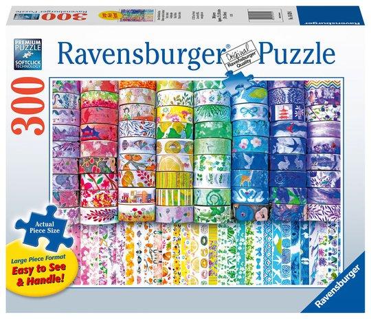 Ravensburger Washi Wishes Puslespill 300 Brikker, Større Brikker