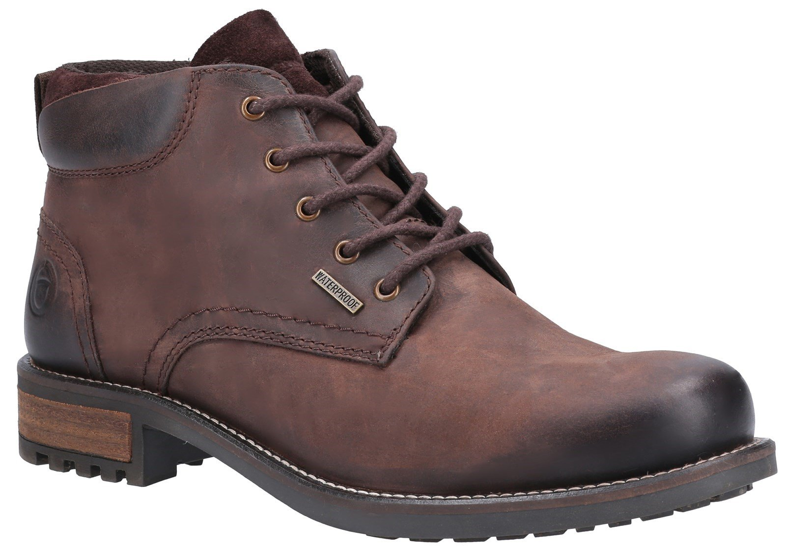 Cotswold Men's Woodmancote Lace Up Work Boots Brown 31008 - Brown 6