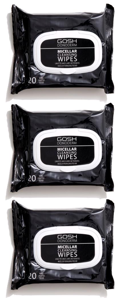 GOSH - Donoderm Micellar Cleansing Wipes x 3
