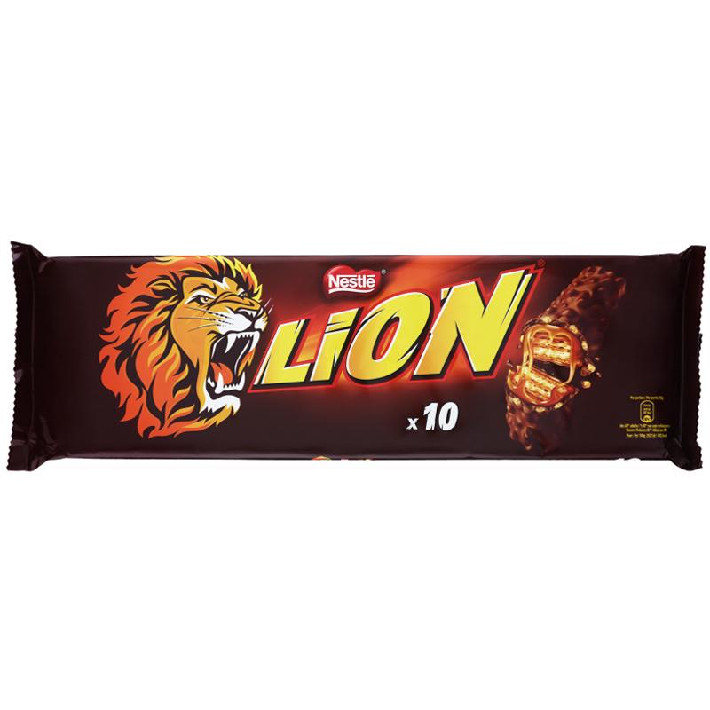 """Suklaapatukat """"Lion"""" 10 x 42g - 20% alennus"""