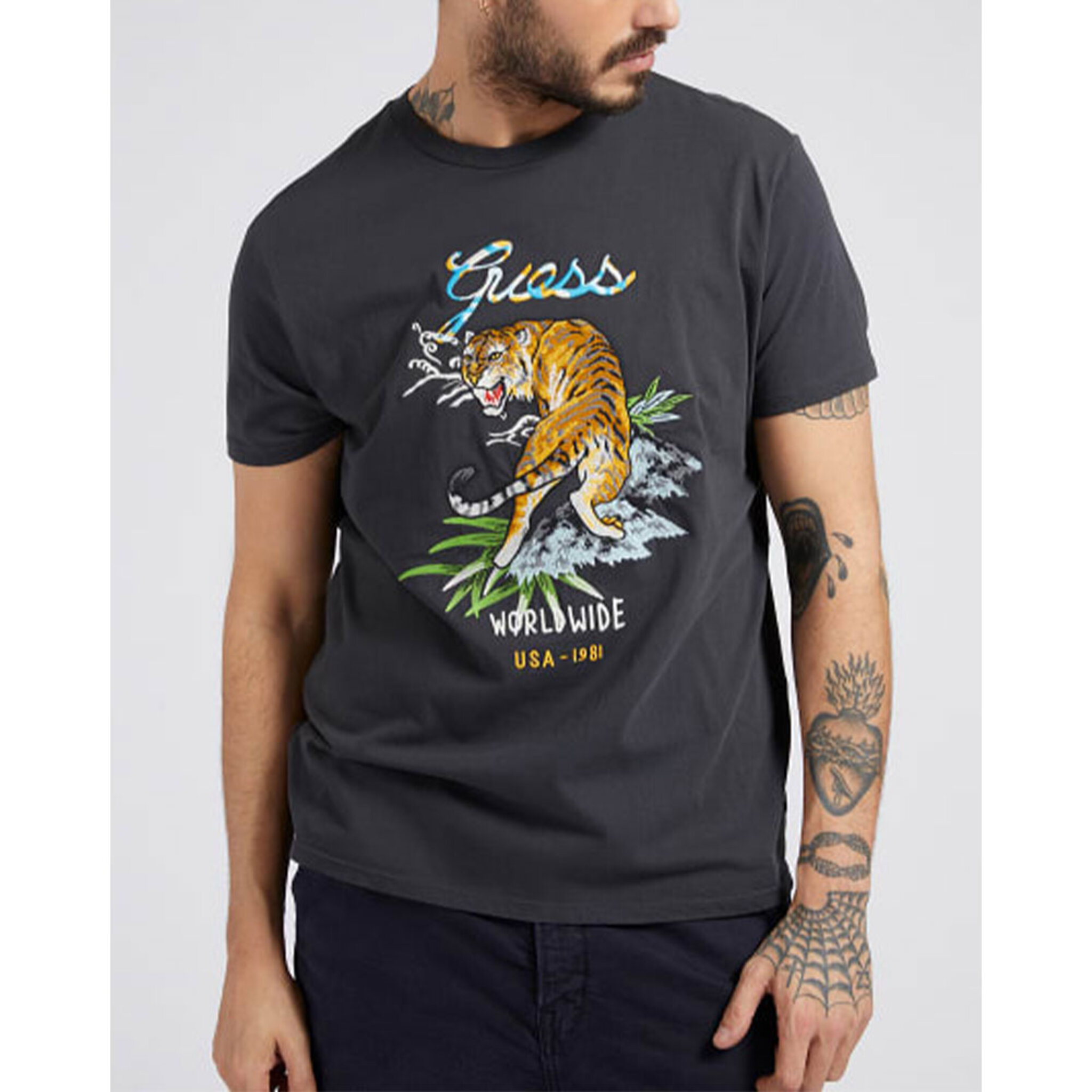 Ss Tiger Embroidery Tshirt Short Sleeves