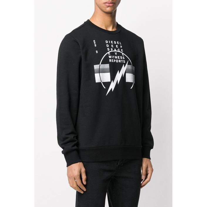 Diesel Men's Sweatshirt Black 294079 - black XS