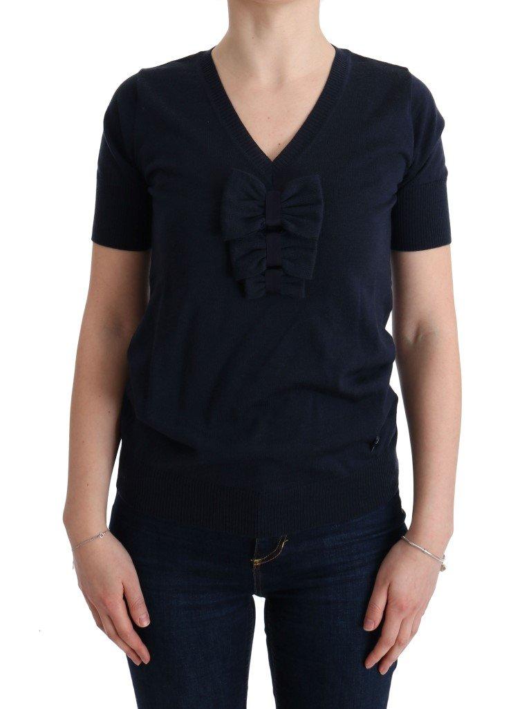MARGHI LO' Lana Wool Top Blue SIG30147 - IT42|M