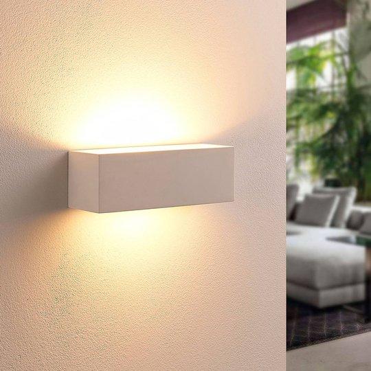 Kulmikas LED-seinävalaisin Tjada, kipsiä