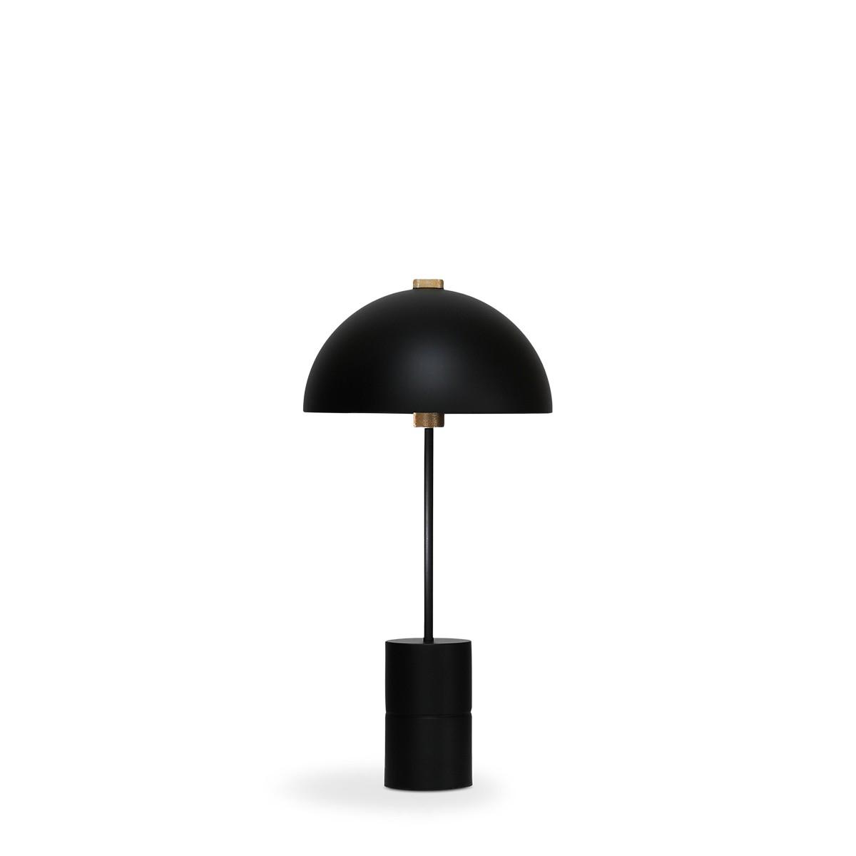 Handvark I Studio Table Lamp Black with Brass