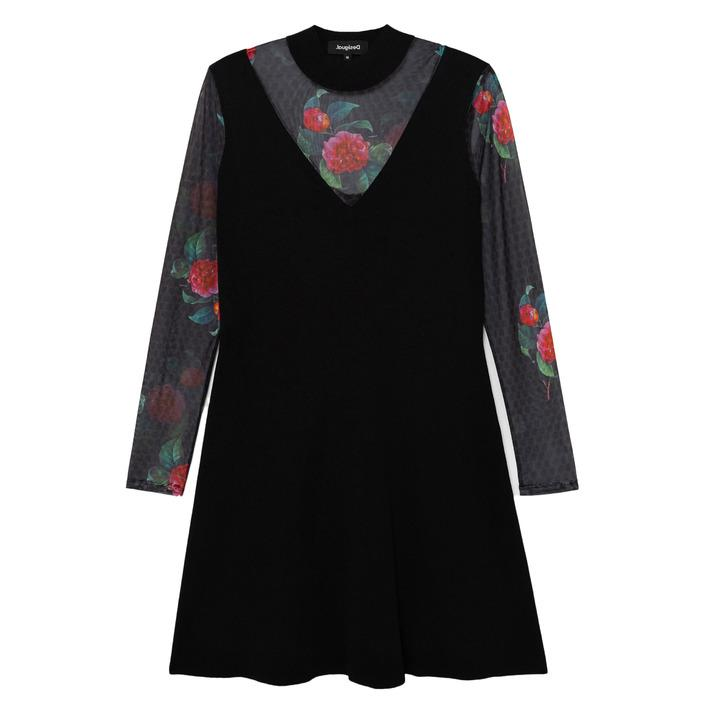 Desigual Women's Dress Black 183859 - black M