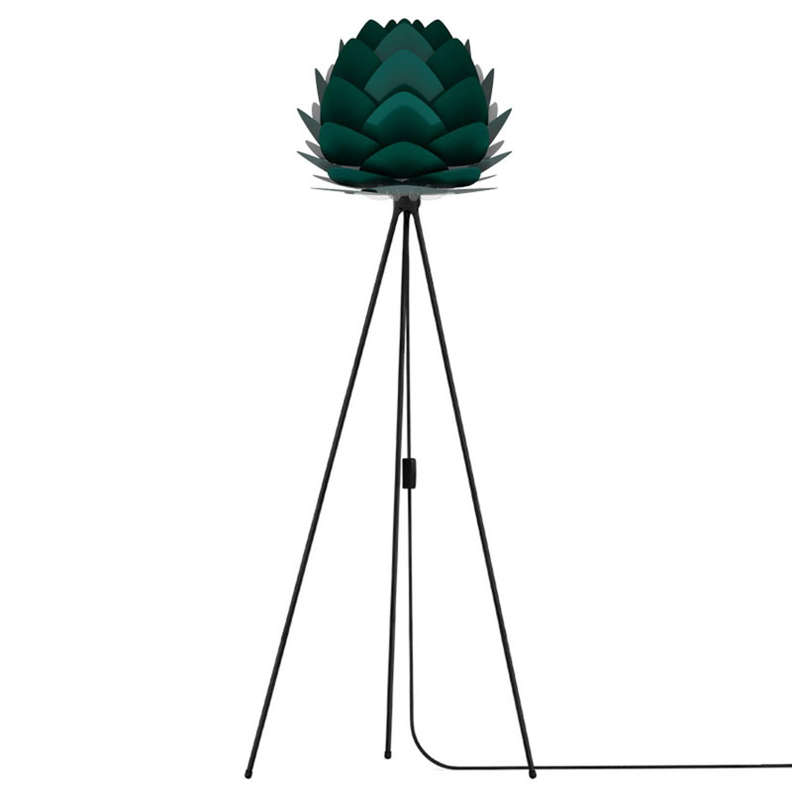 UMAGE Aluvia mini lattiavalaisin musta/vihreä