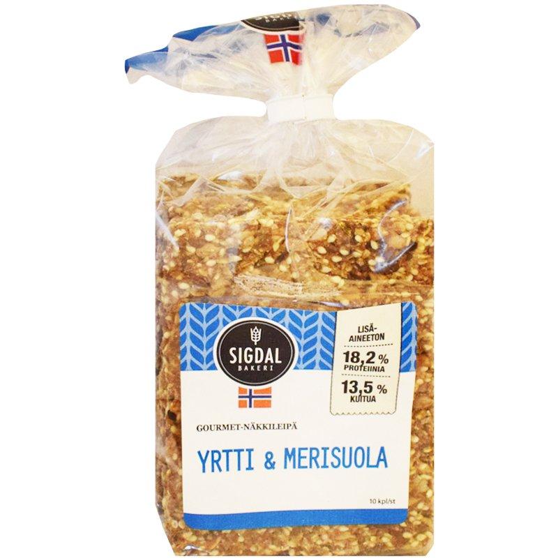 Näkkileipä Yrtti & Merisuola - 45% alennus