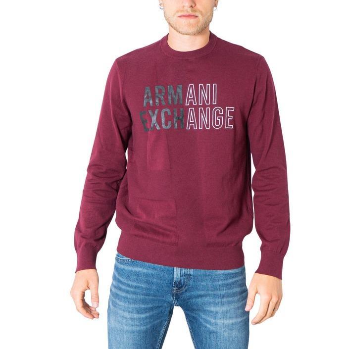 Armani Exchange Men's Sweater Bordeaux 305000 - bordeaux XS