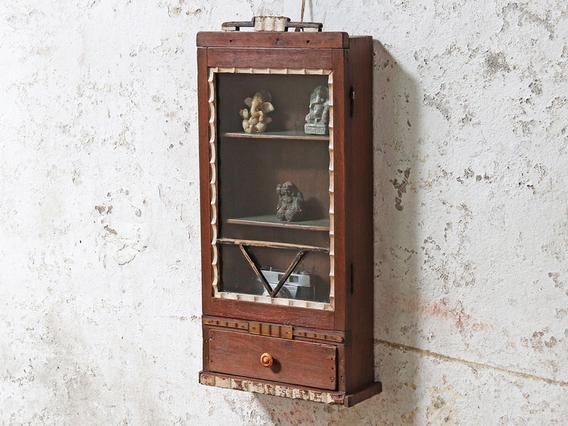 Vintage Display Cabinet Brown
