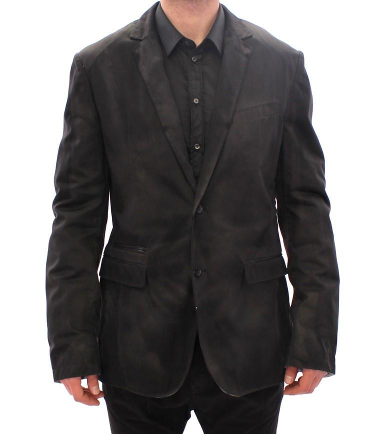 Dolce & Gabbana Men's Silk Slim Fit Blazer Black GSS11947 - IT48   M