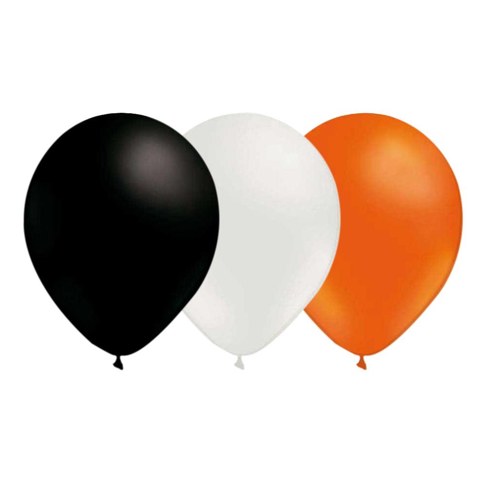 Ballongkombo Svart/Vit/Orange - 15-pack