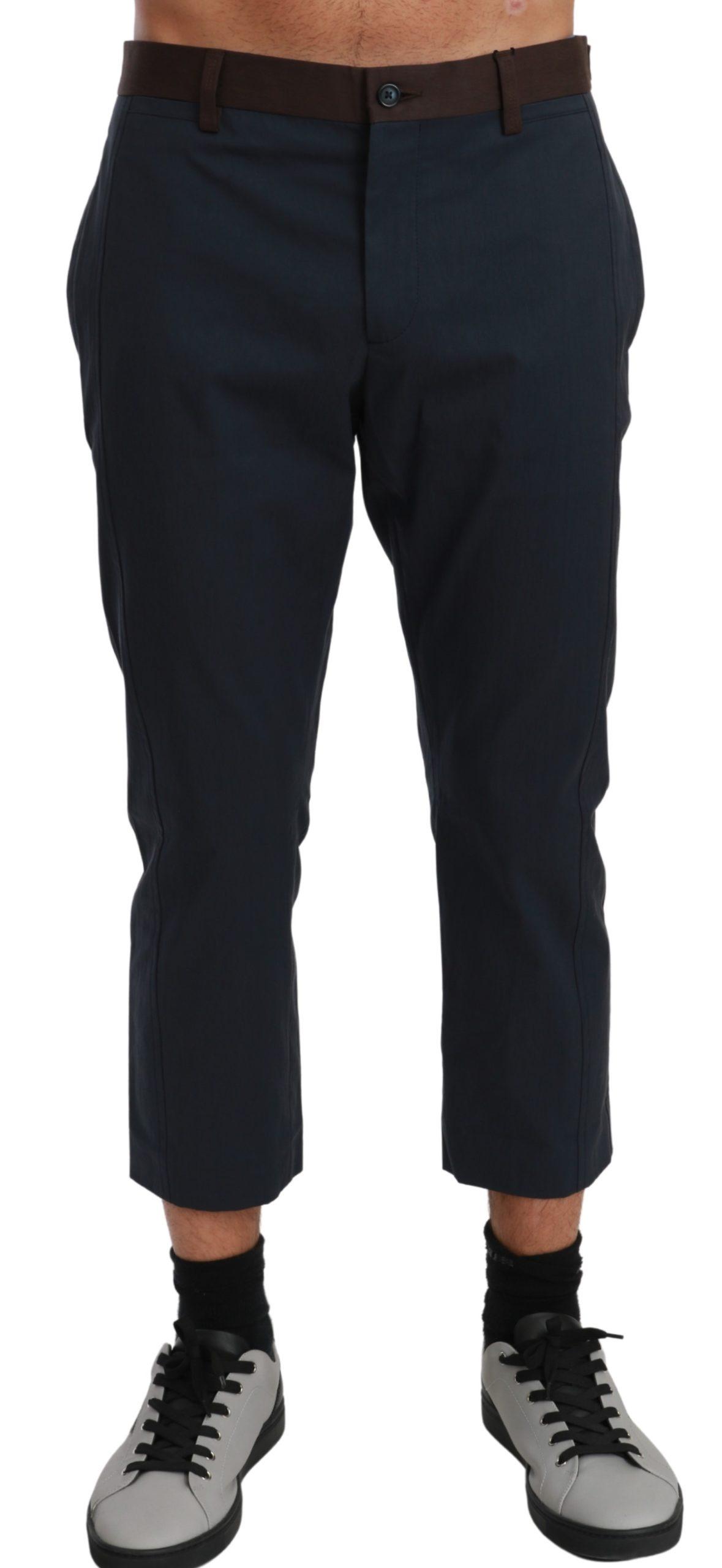 Dolce & Gabbana Men's Stripes Cropped Trouser Brown PAN70977 - IT44 | XS