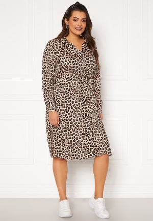 Happy Holly Iris Shirt dress Leopard 36/38