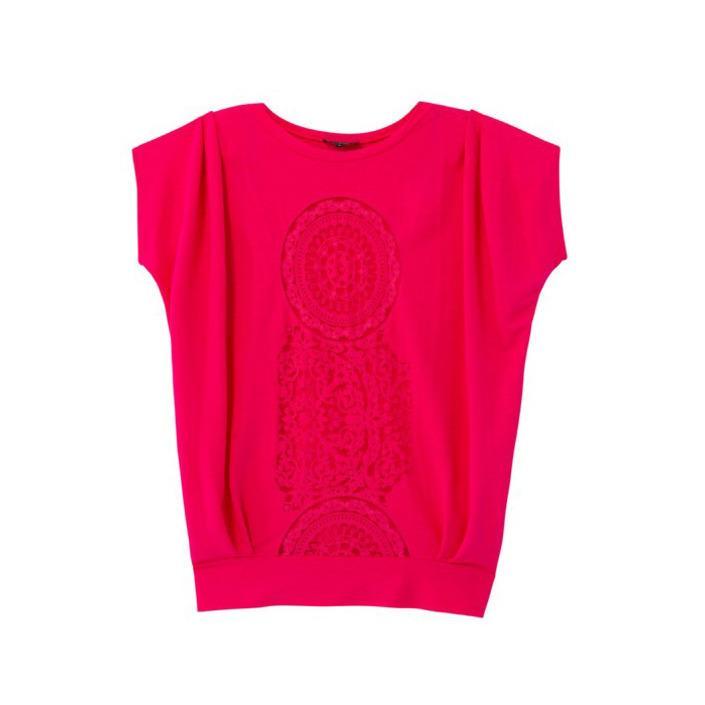 Desigual Women's T-Shirt Fuchsia 173093 - fuchsia S