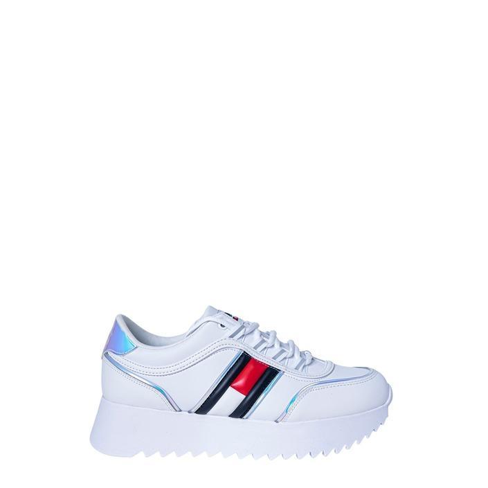 Tommy Hilfiger Jeans Women's Trainer White 190857 - white 40