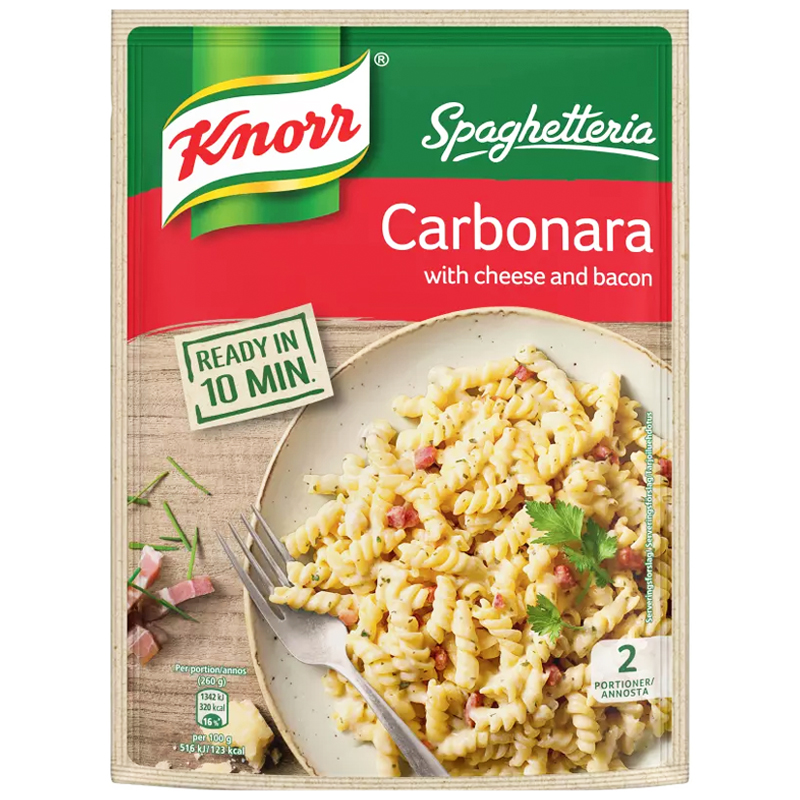 "Pasta Carbonara ""Cheese & Bacon"" 154g - 38% alennus"