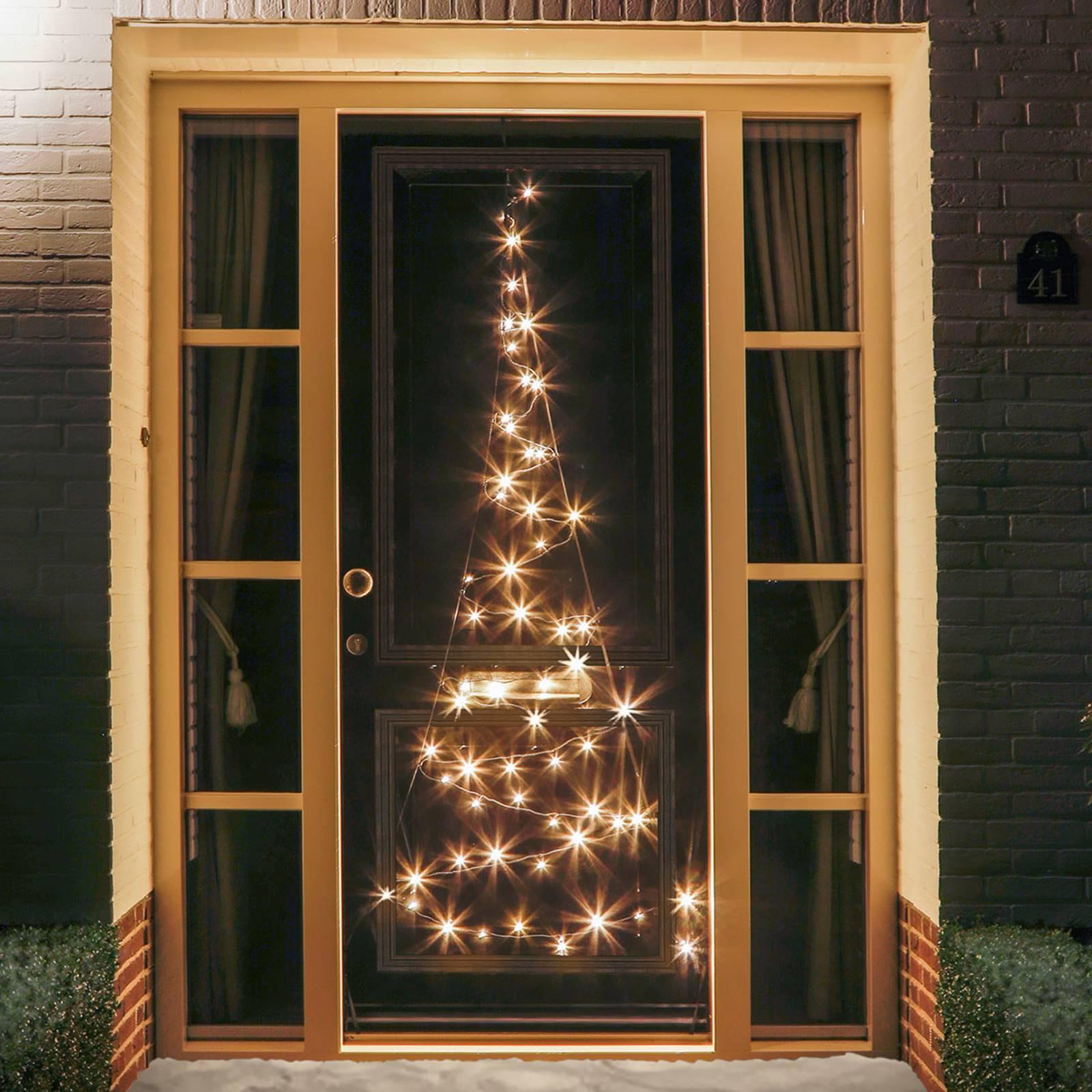 Joulukuusisiluetti Fairybell® oveen, 60 LEDiä
