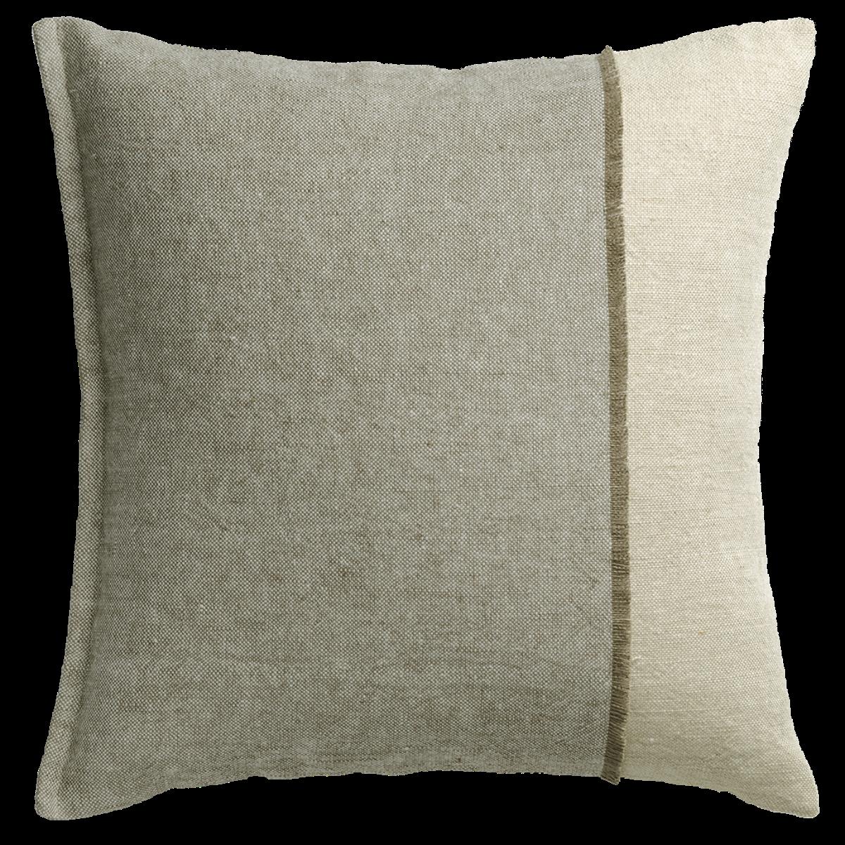 de Le Cuona | Haiku Panel Cushion With Fringe Detail Pond/Husk