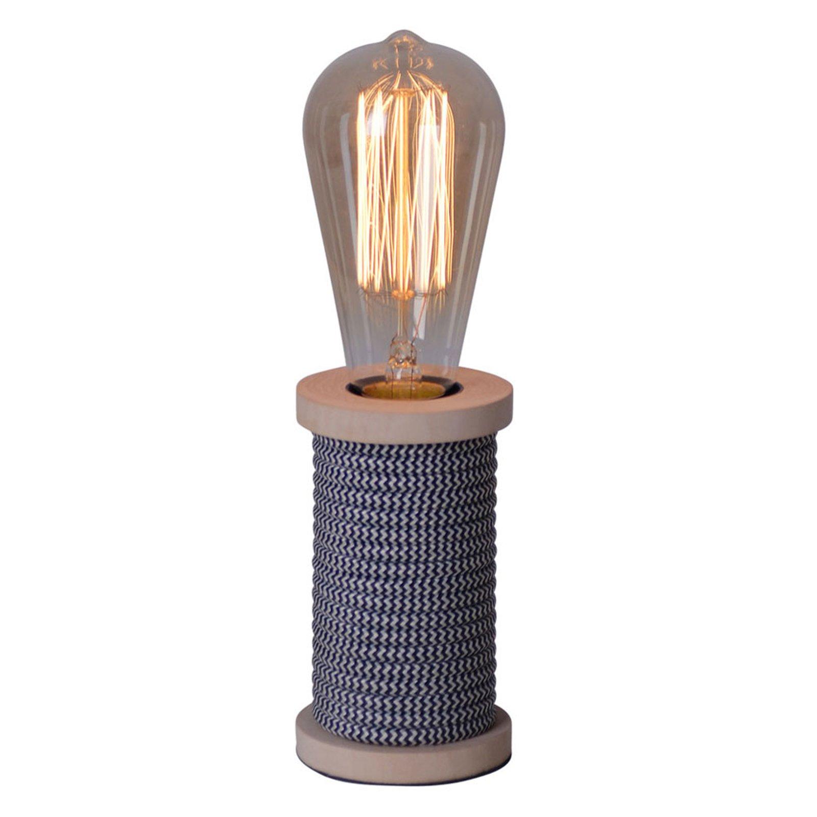 Bordlampe Max med fot i tre antrasitt
