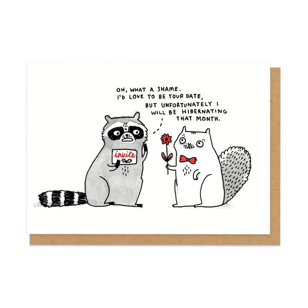 Hibernating Greeting Card