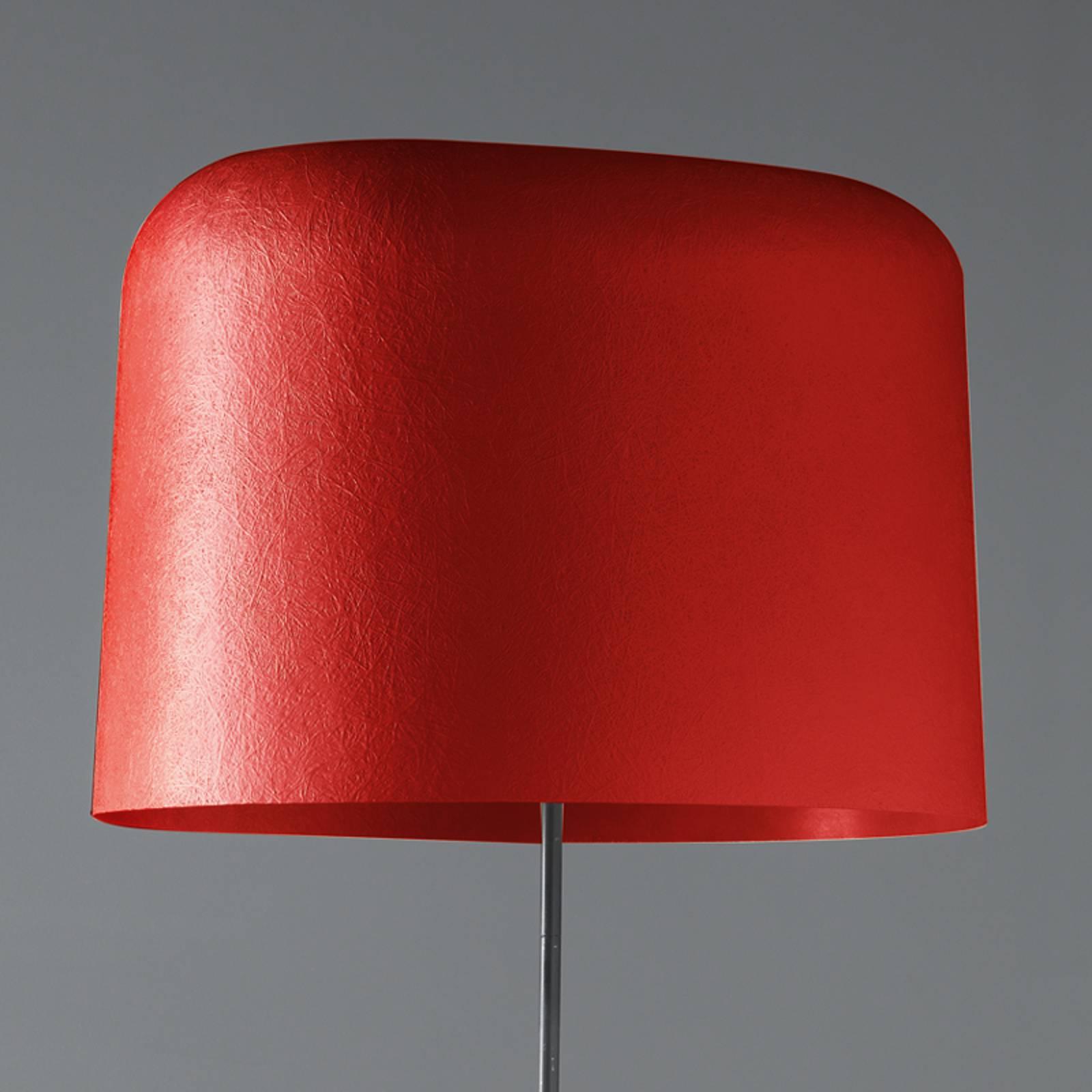 Lasikuituvarjostin – lattiavalaisin Ola, punainen
