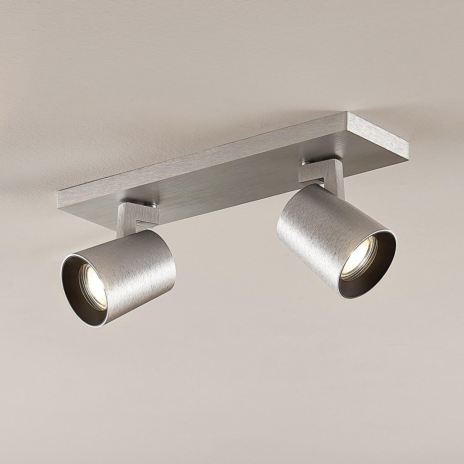 Arcchio Iavo-spotti, kulmikas, alumiini, 2 lamppua
