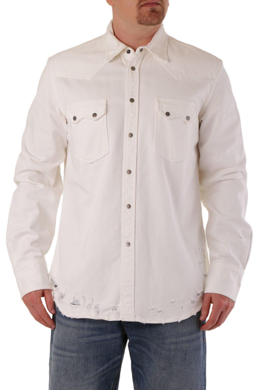 Diesel Men's Shirt White 287454 - white-3 L