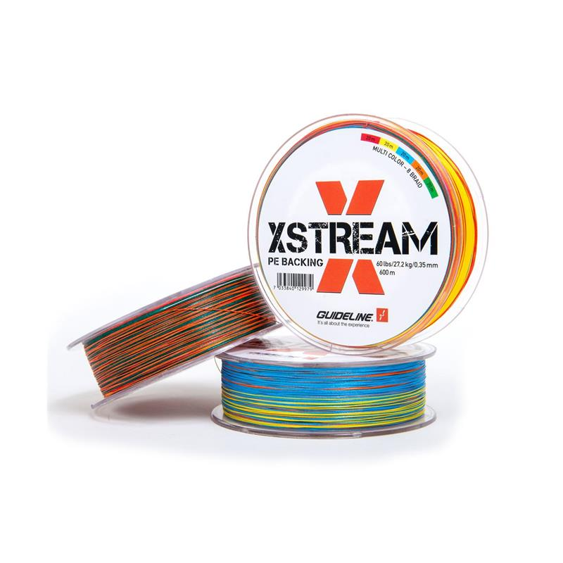 Guideline Xstream PE Backing 600m Braided - Multicolour - 60lbs/0,40mm