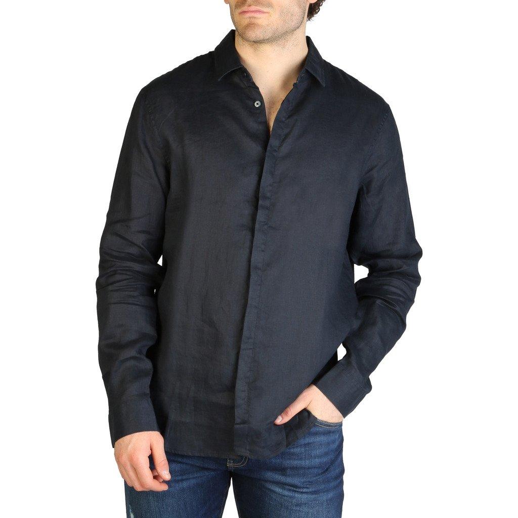 Armani Exchange Men's Shirt Blue 3ZZC27_ZNCFZ - blue XS