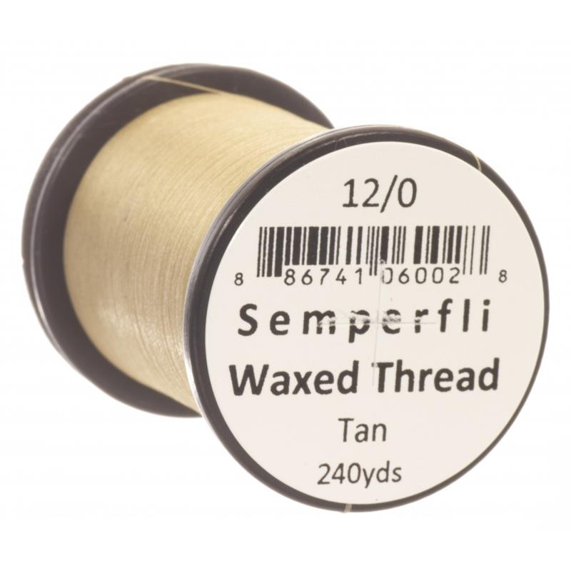 Semperfli Classic Waxed Thread Tan 12/0