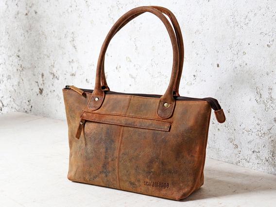 Bella Leather Handbag Brown