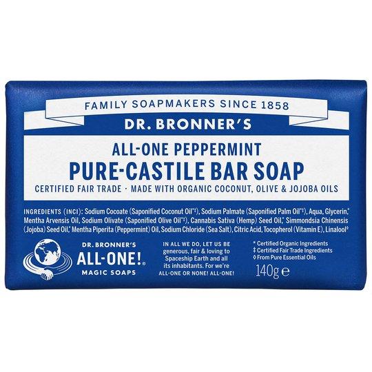 Magic Soaps All-One Hemp Peppermint, 140 g Dr. Bronner's Luonnonkosmetiikka