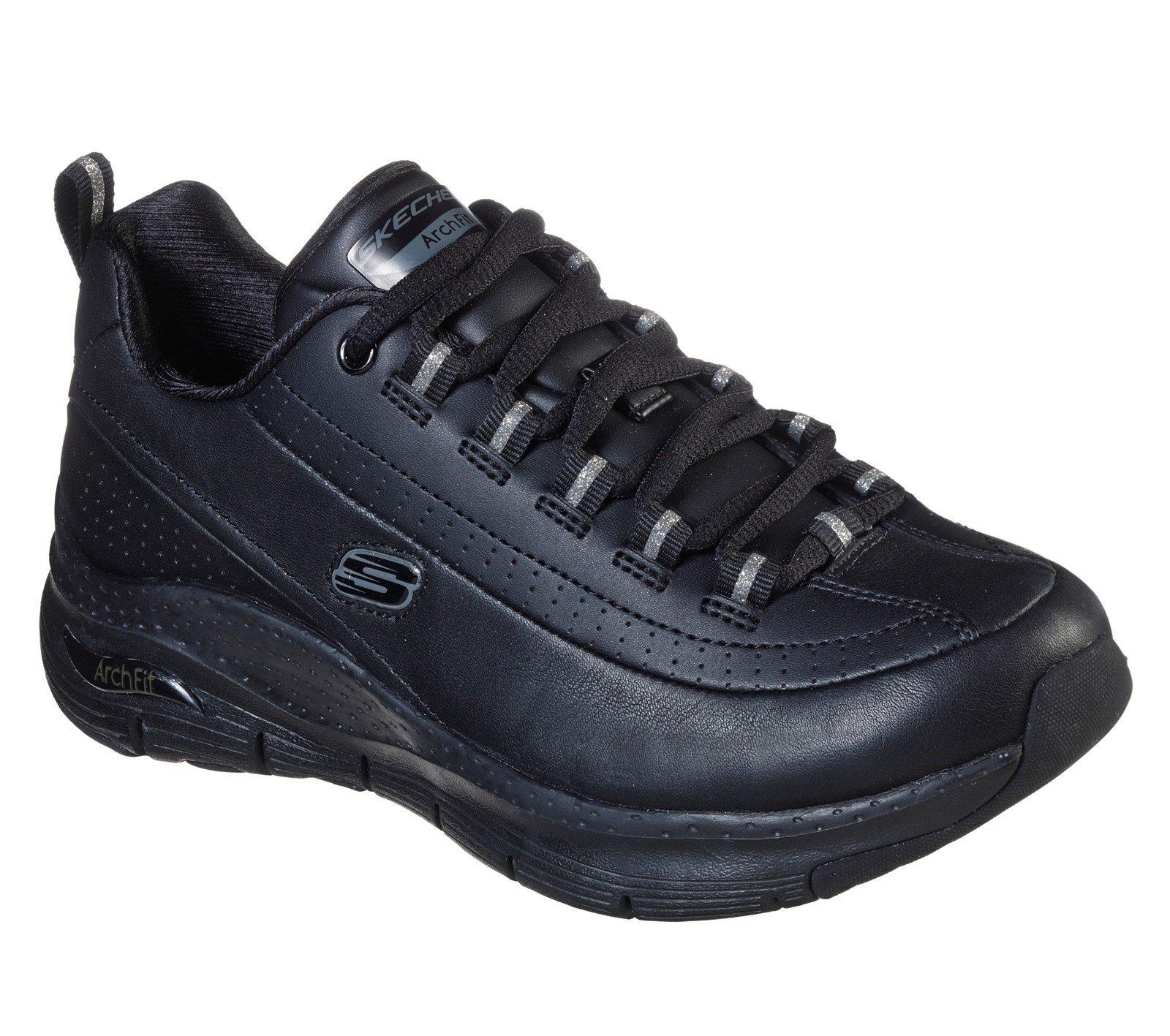 Skechers Women's Arch Fit Citi Drive Sports Trainer Multicolor 31041 - Black/Black 7