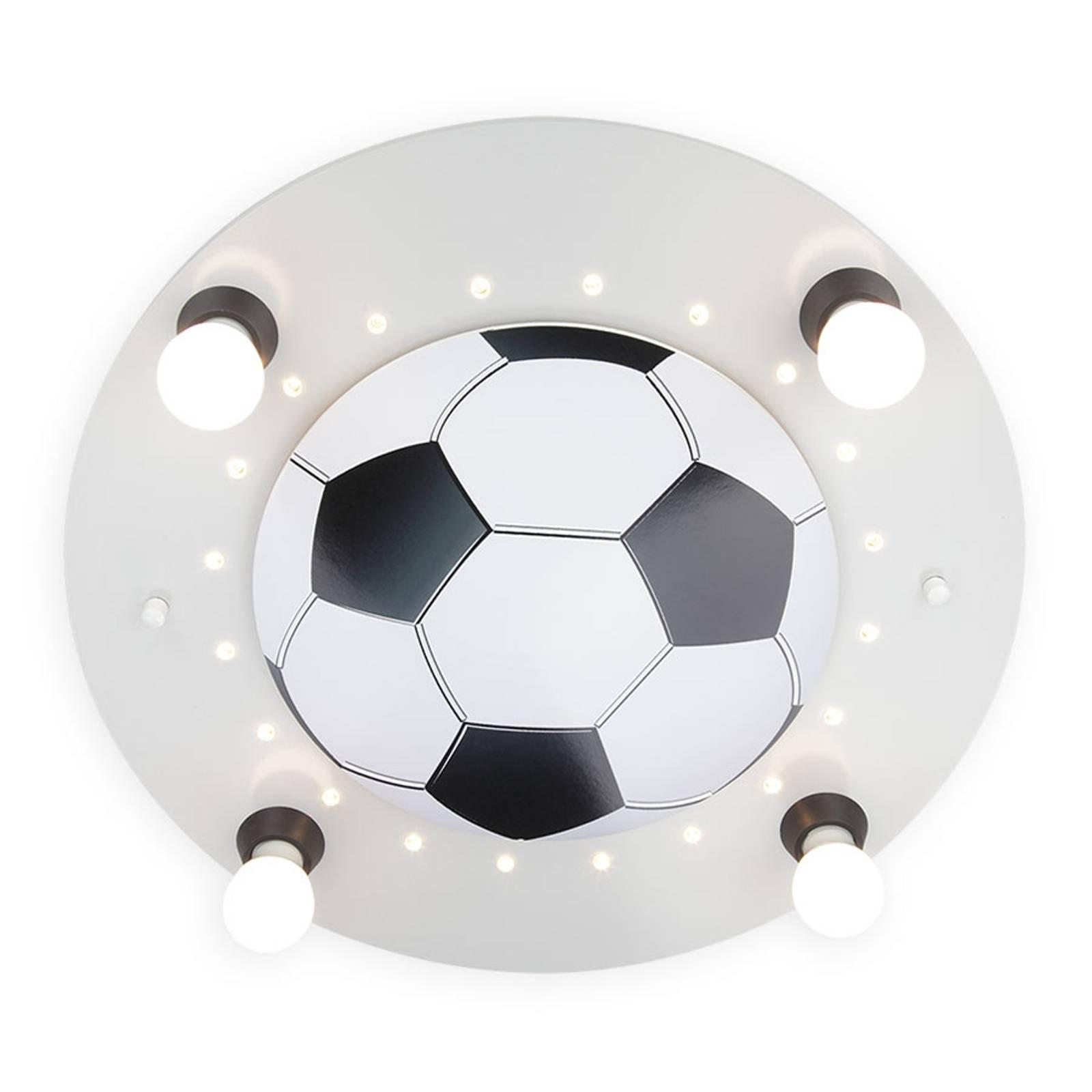 Taklampe Fotball, 4 lyskilder, sølv og hvit