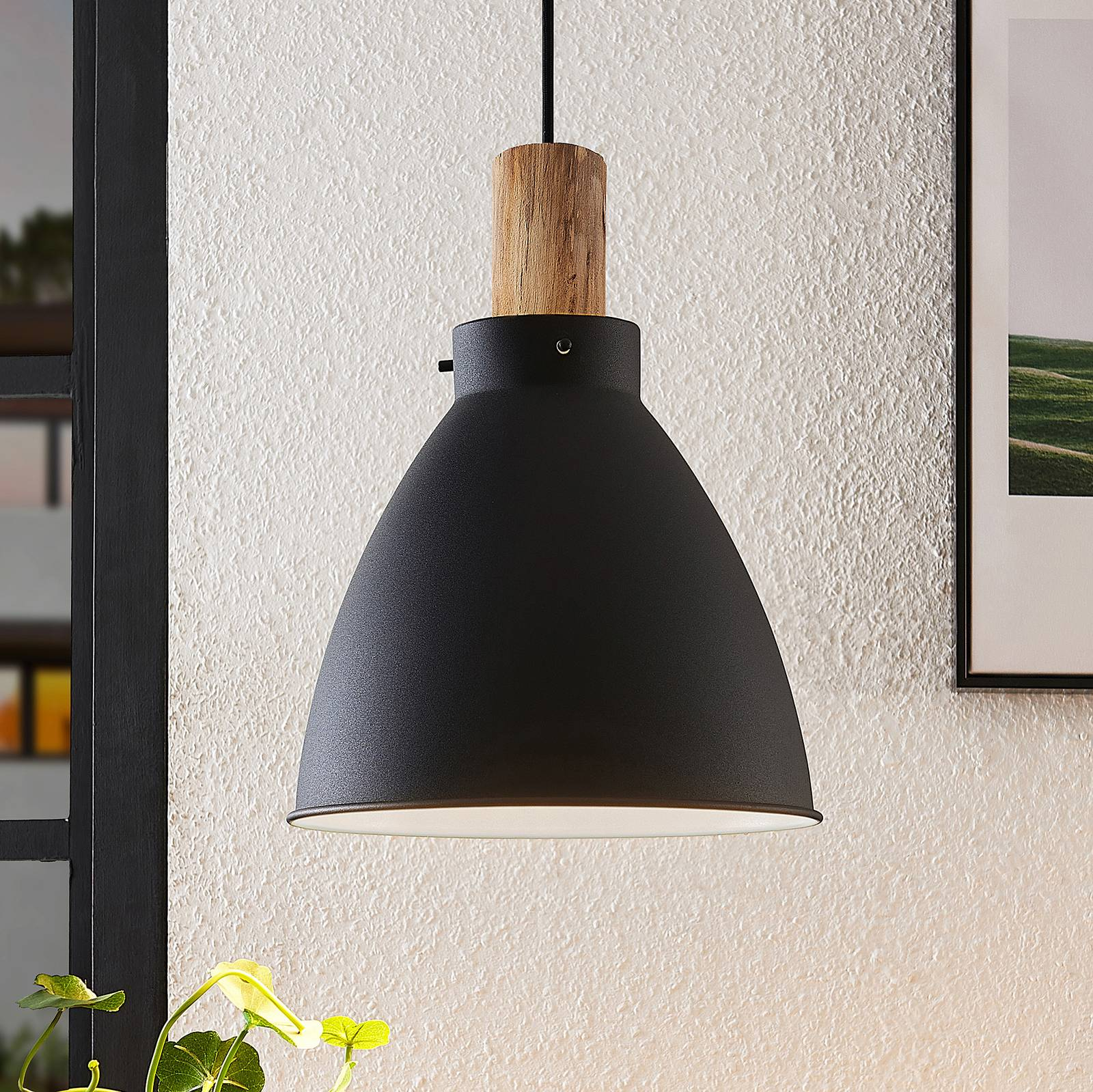 Lindby Trebale -riippuvalaisin, yksilamppuinen