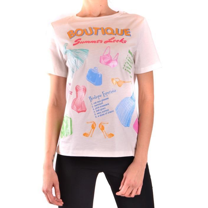 Boutique Moschino Women's T-Shirt White 187299 - white 44