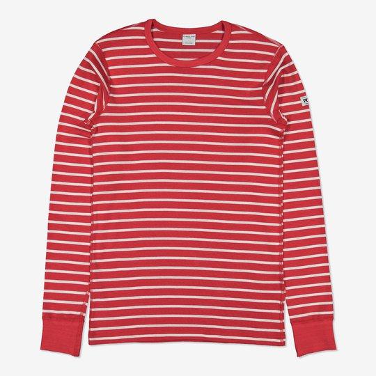 Stripet genser voksen rød